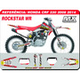Kit De Adesivos - Crf 230 - Rockstar Wr - Qualidade 3m
