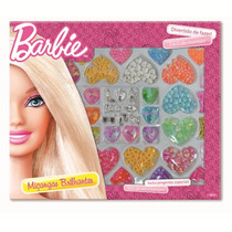 Caixa De Miçanga Brilhante Grande Barbie Infantil Menina Fun