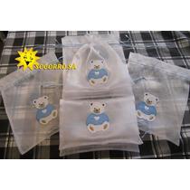 Saquinho Organza Cristal Maternidade - Pct C/ 6 Unidades