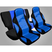 Capa De Banco Carro Tuning Universal Esportiva Azul Vermelho