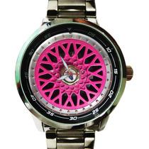 Relógio Bbs Rosa Aro Númerico Bat. Sony Maq. Miyota Japan Up