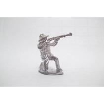 Soldado Chumbo Forte #20 Apache Soldado C/rifle Atirando 5cm