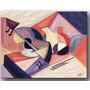 Quadro Decorativo Gravura Tela Painel Cubismo Violão 100x80