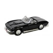 Miniatura Chevrolet Corvette 1967 Preto 1:24 Motormax