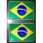 Kit Adesivos 2 Bandeiras Brasil - Copa 2014 - 7x5 Cm