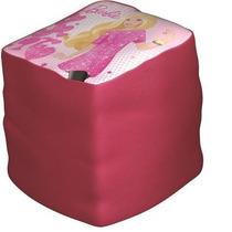Puff Infantil Barbie Disney Star Rosa - Pura Magia Promoção