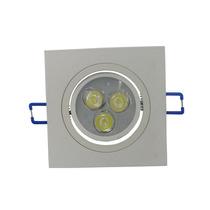 Spot Quadrado C/ Led Lampada Direcionável 3w Para Teto Gesso