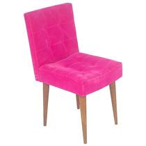 Cadeira Quadrada Rosa Nobuk - Pé Palito Fullway - 80x44 Cm