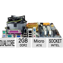 Kit Completo Placa Mãe Intel Lga 775 + Dual Core + 2 Giga