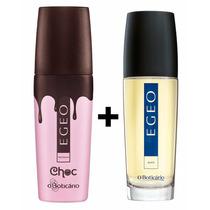 Kit Perfumes Boticário Egeo Woman Choc + Egeo Man 100ml