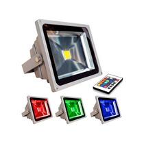 Refletor Led 10w Rgb Colorido Controle 16 Cores 5 Unidades