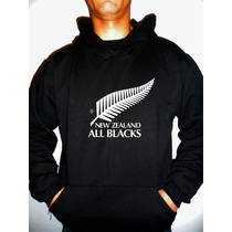 Moletom All Blacks - Nova Zelândia - Rugby - Capuz Canguru