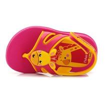 Sandália Infantil Meu Primeiro Fisher Rosa Amarelo Grendene