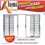 Veneziana Janela De Aluminio Vidro Liso