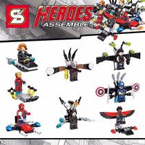 Kit Capitão América Guerra Civil Padrão Lego Marvel Heróis
