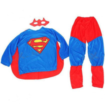* New * Roupa Fantasia Infantil Superman Super Homem Tam. P