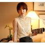 Camisa/blusa Manga Princesa Feminina Com Perola Importada