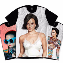 Camiseta Personalizada Swag Face Rosto Demi Lovato