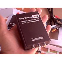 Transmissor Ou Receptor Sem Fio Wireless Áudio E Video 3w