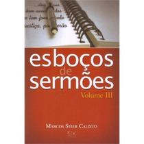 Livro Esboços De Sermões - Vol Iii