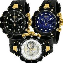 Relógio Invicta Venom 2 Subaqua Gold 1521 1522 1523 Original