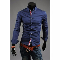 Camisas Slim Fit Camisa Masculina Social Luxuosa Importada
