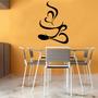 Adesivo Decorativo Parede Geladeira Cozinha Xícara Café