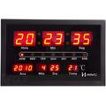 6289 - Relógio De Parede Led Digital Termômetro Calendário