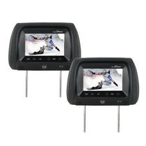 Par Encosto De Cabeça C/ Tela Lcd 7 Monitor Toque Na Tela