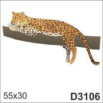 Adesivo D3106 Tire Onça Pintada Animal Decorativo De Parede