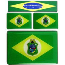 Kit 3 Bandeiras Resinadas Ceará -1de 6x4 2 De 2,5x1,5 C
