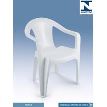 Poltrona Plastica Branca - Perola