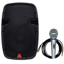 Caixa Acústica Ativa Je10plb Usb+fm+sd+bluetooth Nf Maxcomp
