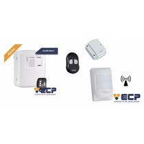 Kit Alarme Ecp 1 Central Alard Max4 + Sensores + Controle