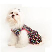 Vestido Para Cães Estampado Pet Fantasy Roupinha