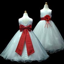 Vestido Infantil Festa/daminha Longo Tamanhos 8,14 E 16