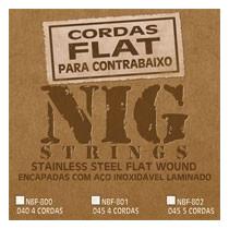 Cordas Nig Flat Nbf 801 P/ Baixo 4 Cordas - .045 -.100