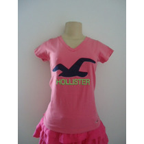 Camiseta Baby Look Camisa Hollister Feminina Frete Grátis