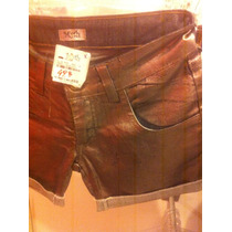 Short Jeans Com Efeito Prateado, Marca Myth..tam 34
