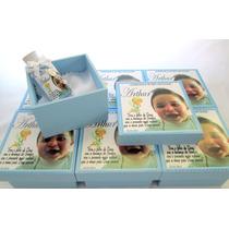 10 Lembrancinhas Caixas Em Mdf Para Batizado Com Água Benta
