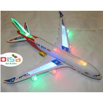 Avião A380 Musical C/ Luzes - Bate-volta