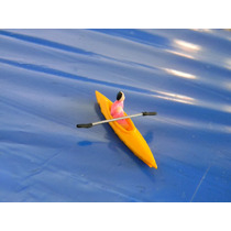 Caiaque + 1 Figura Humana Escala Ho 1:87 (barco, Canoa,praia
