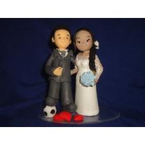Topo De Bolo Casamento Noivado Biscuit 9 Cm