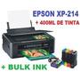 Impressora Epson Xp214 + Bulk Ink C/ 400ml Tinta Sublimática