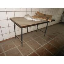 Mesa Bancada Madeira P/ferramentas Almoxarifado Escritório 4