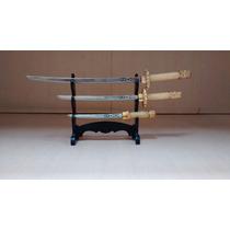 Espadas Samurai - Miniaturas, Trio, Com Suporte.