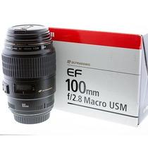 Lente Canon 100mm F/2.8 Macro Usm Garantia - Mercadoplatinum