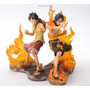 Boneco One Piece - Action Figure Anime Luffy Ace