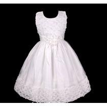 Vestido Infantil Festa/ Princesa/dama Florista Fitas