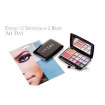 Kit Com 12 Sombras 3d E 2 Blush Vivai